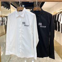 DSQ Phantom Turtle Shirts Hommes Designer Chemises Marque Vêtements Hommes Hommes à manches longues Chemise Hip Hop Style de haute qualité coton 841760
