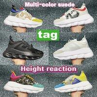 Italia plataforma diseñador zapatos casuales reflexivo altura reacción hombres zapatillas de deporte triple negro blanco multicolor gamuza floral beige mujer entrenadores