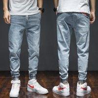 Men's Jeans Fashion Streetwear Men Big Pocket Denim Cargo Pants Hip Hop Slack Bottom Joggers Hombre Harem Trousers 7XL