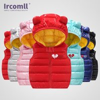 Ircomll 2021 سترة الأطفال لفتاة بوي مشرق الجانب لطيف القطن أكمام سترة مقنعين الأطفال صدرية أطفال الطفل