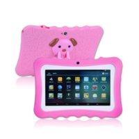 Çocuklar Tablet PC 7 Inç Dört Çekirdek Çocuk Tablet Android 4.4 Noel Yeni Yıl Hediye A33 Google Player Wifi Büyük Hoparlör Koruyucu Kapak 8G