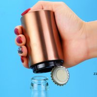 Colorful 5 Colors Pocket Magnetic Stainless Steel Bottle Opener Automatic Push Down Soda Beer Cap Openers HWE9662