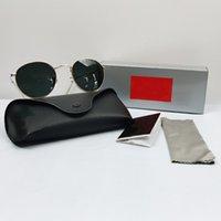 Designer Sonnenbrille Mode Marke Flieger Sonnenbrille Männer Gläser Polarisierte UV400 Schutzspiegel Polaroid Linsen Metallrahmen
