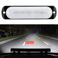 작동 등 1PC 18W 12V 작업 333mA LED 긴급 플래시 바 자동차 차량 트럭 비상 SUV 운전 안개 램프