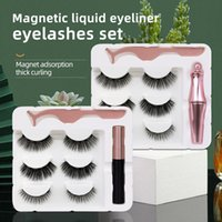 NEW 3 Pairs Magnetic Eyelashes With Eyeliner Tweezer Kit Natural Look Eyelash Upgraded Reusable False Lashes Easy to Wear