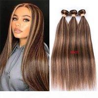 Resalte P4 27 paquetes con cierre rectos 3 paquetes con cierre de paquetes de tejido para el cabello brasileño con cierre de 4 * 1 encaje #luy
