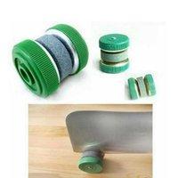 휴대용 실용 빠른 라운드 녹색 수동 숫돌 숫돌 홈 주방 도구의 성격 창조 연삭 날카로운 칼