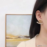 Fashion hoop earrings stud aretes orecchini for women party wedding lovers gift jewelry engagement with box