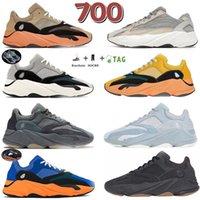 2021 3M riflettente 700 V2 scarpe da corsa da uomo e da donna a onda inerziale Teephra Giallo e nero Vanta Sneakers EUR 36-45