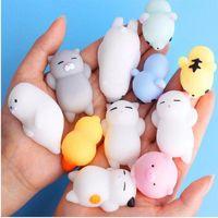 압축 해제 장난감 변화 색상 귀여운 고양이 antistress squishy 공짜리짜리 쥐똥 부드러운 끈적 끈적한 스트레스 구호 재미있는 선물 장난감 DLH315