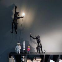 Sarkıt Siyah Ve Beyaz Altın Maymun Avize Duvar Lambası Masa Oturma Odası Sanat Salonu Çalışma Yemek Mobilyaları