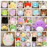 25-40 cm Squishmallow Dolls Twenty Styles Gummy Bambola colorata Unicorno Gatto Maiale Ape Dinosaur Cuscino Peluche Giocattolo Regalo di Natale Cy14