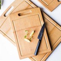 Doğal Bambu Doğrama Blokları Kalınlaşmış Ahşap Gıda Plakası Ahşap Pizza Suşi Ekmek Tepsi Sebze Kesme Tahtası Mutfak Aletleri