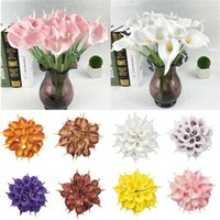Home Decor Artificiing Flower 10pcs Party Art Wedding PU Real Touch Artificial Calla Lily Decorative Flowers & Wreaths
