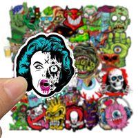 50 unids impermeable laptop skull horrible pegatinas graffiti parches pegatinas de coche calcomanías motocicleta bicicleta equipaje monopatín regalo de juguete