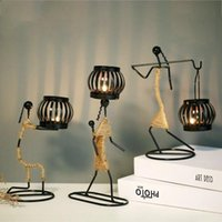 Candle Holders Modern Iron Figure Candlestick Simple Metal Romantic Wedding Holder Vintage Home Decoration Birthday Gifts Without
