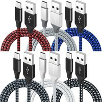 1m 2m 3m 2.4A Quick charge USB-C Type c Micro 5pin Braided USb Cable For Samsung s8 s10 s20 s21 htc lg android phone gps pc