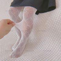 Baby Girls Leggings колготки колготки детские тонкие секционные носки писем печатание дизайнерские черные белые чулки дети