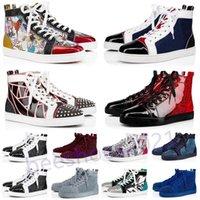 Erkek Rahat Ayakkabılar Kadınlar Açık Kırmızı Dipleri Ayakkabı Çivili Spike Loafer'lar Sneakers Süet Deri Flats Çiftler Ttrainers des Chaussures B50