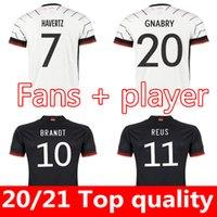 독일 축구 유니폼 2022 2021 팬 플레이어 버전 Hummels Kroos Gnabry Werner Draxler Reus Muller Gotze 유럽 컵 축구 셔츠 유니폼 남성 + 키트 키트