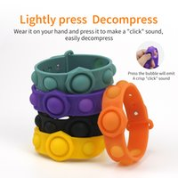 Adulto Fidget Pulsera Juguetes Dedo Dedo Anit Anit Alivio Alivio Toy Pop TI descompresión sensorial Juguete Verano Moda Accesorios de Moda
