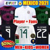 Spielerversion Fans 2021 2122 Mexiko Fußball Jersey Green National Copa America 20 21 22 Chicharito Lozano Guardado Carlos Vela Raul Männer Kinder Frauen Fussball Hemden