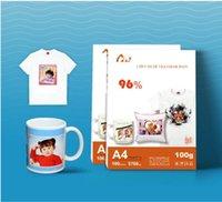 100 Blatt A4 Größe Sublimation Wärmeübertragungspapier, 100gsm Papier, Nutzung in Kleidung, T-Shirt, Tasse, Kissen etc FSSF SDGH