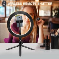 Cell Phone Mounts & Holders Pography LED Selfie Ring Light 26CM Dimmable Camera Lamp 10inch With Tripod Stand For Makeup Video Live Streamin