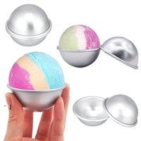 Semicircle Aluminum Alloy Bath Bomb Molds Ice Cream DIY Cake Bathing Mold Ball Tool Accessories NHB7670