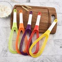 Multifunktionale Rotationshandbücher Ei Werkzeuge Schlägermischer Mini Kunststoff Küche Whisk Backen Rührwerk Silikon Umweltfreundliche HWA8570