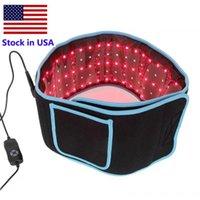Portátil LED adelgazante Cinturones de cintura para adelgazar Terapia de infrarrojos de infrarrojos de color rojo Alivio de dolor LLLT LLLT LIPOLISIS CUERPO Forma de escultura 660nm 850nm Lipo Laser