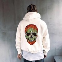 Men's Hoodies & Sweatshirts Autumn Hoodie Plus Size 5XL Loose Pure Cotton Warm Party Diamond Hoody Long Sleeve Jacket Skull Style H961