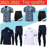 Manchester 21 22 Trainingsanzug Fussball Jersey Sets 2021 G.Jesus Stadt Sterling Ferran de Bruyne Kun Aguero Football Polo Shirts Training