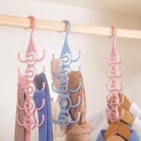 Hangers & Racks Tenmiu Hanging Belt Hanger Multi-function Tie Hook Scarf Stand Bag Storage Rack Wardrobe Cn(origin)