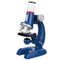Laboratório de Microscópio Microscópio Kit de Microscópio Levado 1200x Homeschool Ciência Educacional Brinquedo Presente Refinado Biológico Para Criança Criança