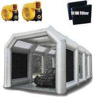 무료 배송 다양 한 크기 5m-12m 작은 풍선 스프레이 페인트 부스 블로우 업 자동차 트럭 그림 텐트 차고 판매
