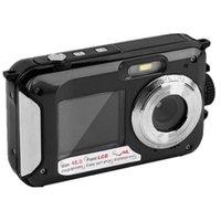 Camcorders 48MP subaquático impermeável câmera digital tela dupla video câmara de vídeo e disparos DU55