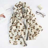 Scarves Scarf Autumn And Winter Letters Cotton Linen Feel Warm Women Lightweight Imitation Cashmere Long For Ladies