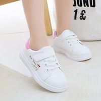 Sneakers Kids Sport Shoes Spring Fashion Girls Princess Flat Children Infant Student Running White STQ003