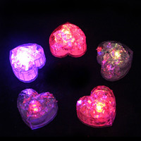 Heart shape Flash Ice Cube LED Color Luminous in Water night...