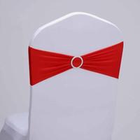 2015 Горячие продажи Spandex Председатель Группа С Heart Shaped пластиковые пряжки / Lycra диапазона для украшения венчания / Председатель Sash Для обложки Председатель