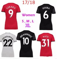 2017 18 woman RASHFORD home red Soccer Jersey women' s P...