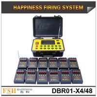 En promoción, envío gratuito de FedEX / DHL, sistema pirotécnico de incendio de 48 canales, sistema de disparo de fuegos artificiales de control remoto 500M (DBR01-X4 / 48)