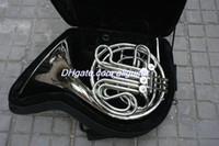 Venta al por mayor de 4 llaves Doble Cuerno francés Laca de plata F / Bb Cuerpo de latón con caja Envío gratis