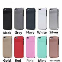 Caseology hybird caso armadura delgada Para gota iPhone 6 Plus 6S resistencia al deslizamiento resistente dura de la PC TPU shell para el Samsung Galaxy S6