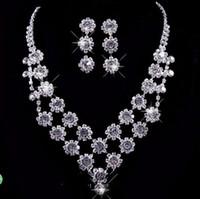 موضة جديدة كامل mrden المقدسة حفل زفاف حجر الراين كريستال قلادة سوار القرط مجوهرات مجموعة مجوهرات بيرال