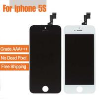 Grade A +++ Écran LCD Écran Tactile Digitizer Shenchao Marque Assemblée Avec Remplacement Réparation De Cadre Pour iPhone 5 iPhone 5s 5SE iphone 5c