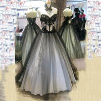 Victorian Gothic Wedding Dresses Real Image High Quality Bla...