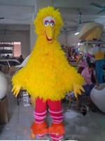 Venta caliente 2018 Big Yellow Bird traje de la mascota del personaje de dibujos animados fiesta de disfraces envío gratis