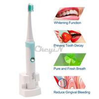 Оптово-30000 / мин Kemei Аккумуляторная электрическая зубная щетка + 4 головки Смарт Водонепроницаемая ультразвуковая зубная щетка Гигиена полости рта Уход за зубами 13 # 65